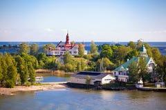 Domy na wyspie w morzu bałtyckim Obraz Royalty Free