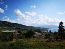 Domy na wzgórzach w Calabria Fotografia Royalty Free