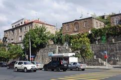 Domy na wzgórzu w Yerevan Zdjęcia Stock