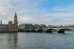 Domy parlament, Big Ben I Westminister most W Londyn, UK Fotografia Stock