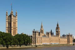 Domy parlament i big ben Fotografia Royalty Free