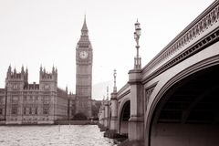 Domy parlament i big ben obrazy royalty free