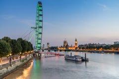 Domy parlament Londyn Obrazy Stock