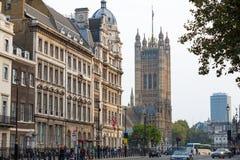 Domy parlament ulicy widok london wielkiej brytanii Obrazy Royalty Free