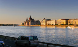 Domy parlament w Budapest Węgry Obrazy Royalty Free