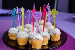 Domy robić partyjni kokosowi cukierki Zdjęcie Royalty Free