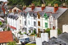 domy tarasują tradycyjnego Welsh Fotografia Royalty Free