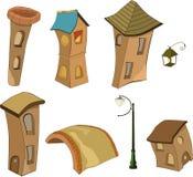 domy ustawiają małego Obrazy Stock