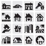 Domy ustawiający Obrazy Stock
