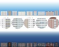 domy ustawiający wektor Zdjęcia Stock