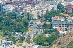 Domy w środkowych okręgach Alanya Obraz Royalty Free