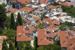 Domy w środkowych okręgach Alanya Obrazy Stock