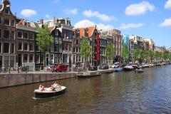 Domy w Amsterdam, Holandia Obrazy Royalty Free