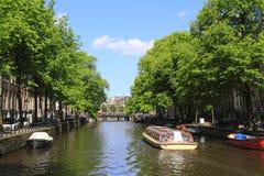 Domy w Amsterdam, Holandia Zdjęcia Stock