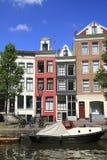 Domy w Amsterdam, Holandia Fotografia Stock