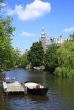 Domy w Amsterdam, Holandia Zdjęcie Royalty Free