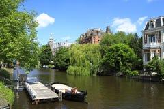 Domy w Amsterdam, Holandia Fotografia Royalty Free
