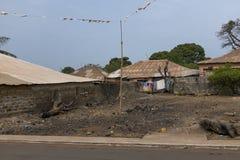 Domy w Bandim neighbourhood w mieście Bissau, Bissau fotografia royalty free