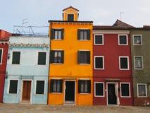 Domy w Burano Zdjęcia Royalty Free
