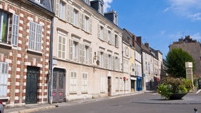 Domy w Chartres Francja Obraz Royalty Free