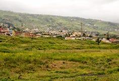 Domy w dolinie La Orotava zdjęcia stock