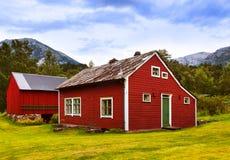 Domy w Kinsarvik Norwegia Obrazy Royalty Free