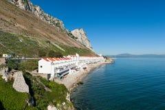 Domy w Sandy zatoce Gibraltar Obraz Stock