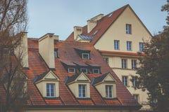Domy w Starym miasteczku w Warszawa Obraz Royalty Free