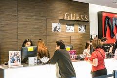 Domysłu sklep przy Westfield centrum handlowym fotografia royalty free