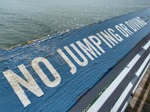 No Jumping or Diving royalty free stock photo