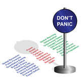Don�t panic Royalty Free Stock Image