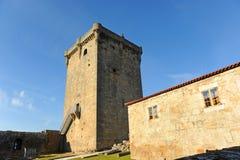 Donżon Monterrei kasztel w Verin, prowincja Orense, Galicia, Hiszpania obraz stock