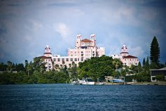 The Don Cesar. A dramatic view of The Don Cesar Hotel on St Pete Beach, Florida Royalty Free Stock Image