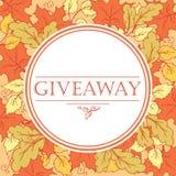 Don d'automne, bannière avec des feuilles Photo stock