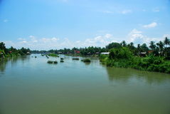 Don Det Island nel delta del Mekong Immagini Stock
