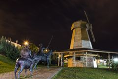 Don donkiszota statua w Turcja zdjęcia stock