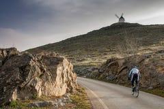 Don donkiszota wiatraczki, Consuegra, Castilla los angeles Mancha, Hiszpania obrazy stock