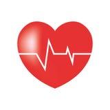 don du sang de heartbeart de lustre illustration de vecteur