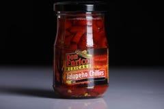 Don Enrico Mexicano, Jalapeno Chillies jar royalty free stock photo