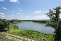 Don-Fluss in Veshenskaya Stockbilder