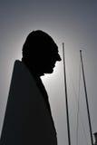 Don Juan de Borbon dans le Puerto célèbre Banus à Marbella, Costa del Sol, Espagne Image libre de droits
