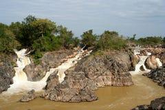 Don Khon waterfall Stock Photography