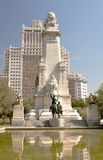 Don Kichta monument in Madrid, Espana stock photography