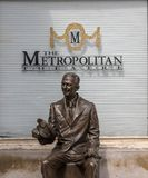 Don Knotts statue outside the Metropolitan Theatre in Morgantown stock photos