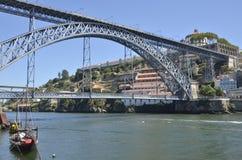 Don Luis-Brücke und Gaia Lizenzfreies Stockfoto