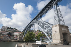 Don Luis Bridge in Oporto Royalty Free Stock Photos