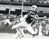 Don Maynard, receptor de passes na linha dos New York Jets Imagem de Stock