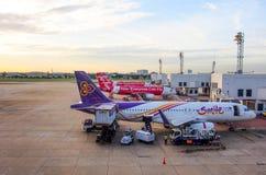 Don Muang internationell flygplats, Bangkok, Thailand 1 Fotografering för Bildbyråer