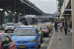 Don Muang lotniska przodu Uliczny widok w Thailand Fotografia Royalty Free