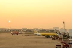 Don Muang lotnisko w ranku Obraz Royalty Free